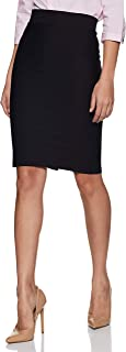 Poles Apart Women Formal Pencil Skirt with Slit - Black, red, RoyalBlue, Green, Maroon, Off-White, Navy