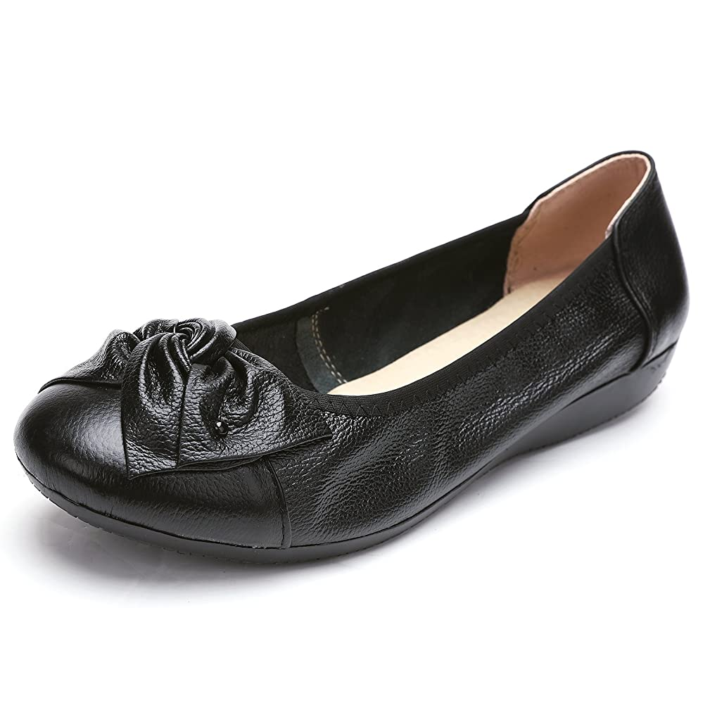 Odema Women's Leather Loafers Flats Moccasins Driving Shoes Casual Walking Shoes Size 5.5-10.5