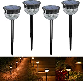 [Auto On/Off] YiLaie Outdoor Solar Garden Lights LED Solar Spike Light, Led Pathway Landscape Lighting for Patio, Yard, Pa...