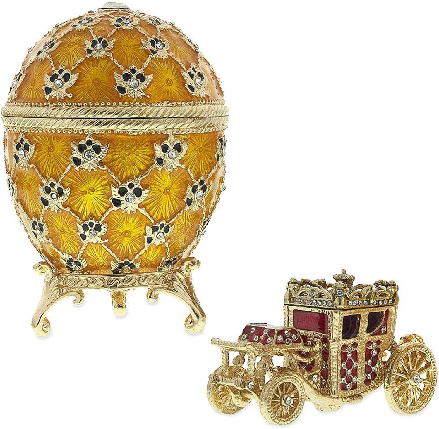 BestPysanky 1897 Cgoldnation Royal Russian Egg 3.8 Inches