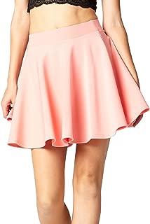Premium Stretch High Waisted Flared Mini Skater A Line Skirt for Women