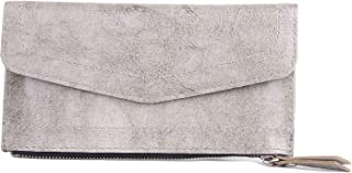 Womens Wallet - Credit Card Holder Wallets for Women Slim Bi-fold Zipper Purse Simple and Slim Lady's Wallet