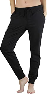 ToBeInStyle Women's Solid Print French Terry Jogger Pants