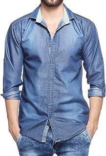 Finerbeast Cavender Denim Casual Shirt for Mens.