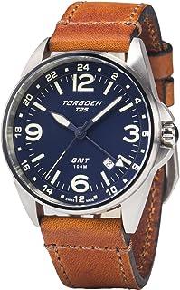 T25 Blue GMT Pilot Wrist Watch | 41mm - Vintage Leather Strap