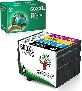 GREENSKY Cartucho de Tinta Compatible para Epson 603 603XL para Epson Expression Home XP-2100 XP-2105 XP-4105 XP-4100 XP-3...