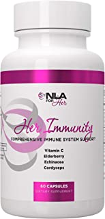 NLA for Her - Her Immunity - Comprehensive Immune System Support for Women - Vitamin C, Elderberry, Echinacea, Cordyceps -...