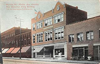 Warren Pennsylvania Salvation Army Bldg Street View Antique Postcard K49745