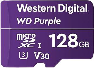 Western Digital WD Purple SC QD312 128GB microSDXC Extreme Endurance, 100MB/s Read, 60MB/s Write, UHS Speed Class 3 U3, Vi...