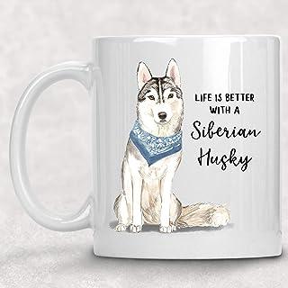 Details about  /Siberian Husky Pet Dog White Mug