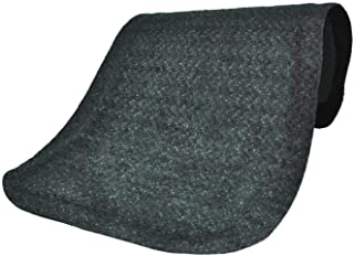 M+A Matting 446 Confetti Grey Nylon Hog Heaven Plush Anti-Fatigue Mat, 5' Length x 3' Width x 5/8