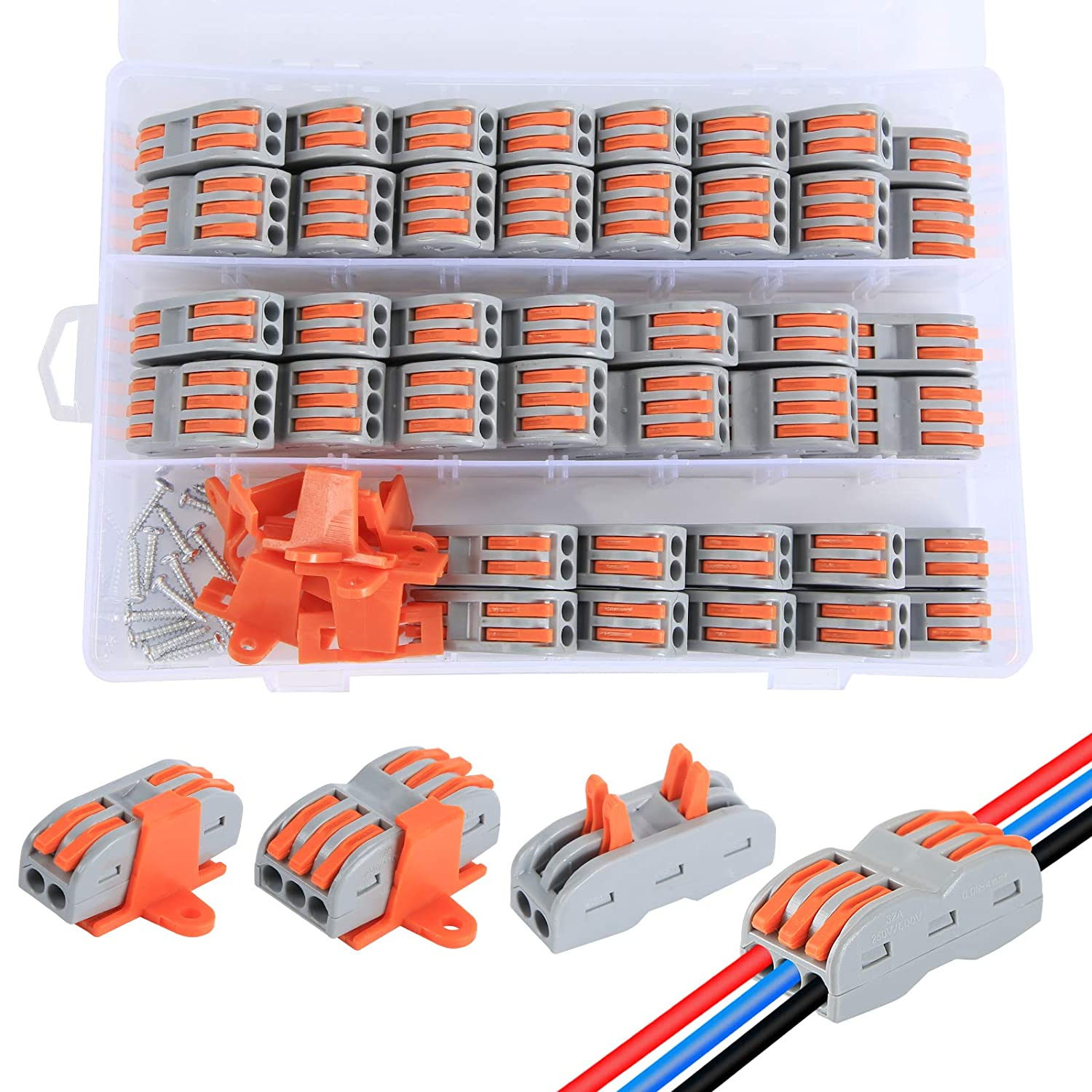 70pcs Compact NEW before selling ☆ Wire Conductor Connector,Aigreat National uniform free shipping C Assortment