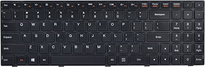 KBR Replacement Keyboard with Frame for Lenovo Ideapad 100 15 100-15 100-15IBY 100-15IB series Laptop US Layout