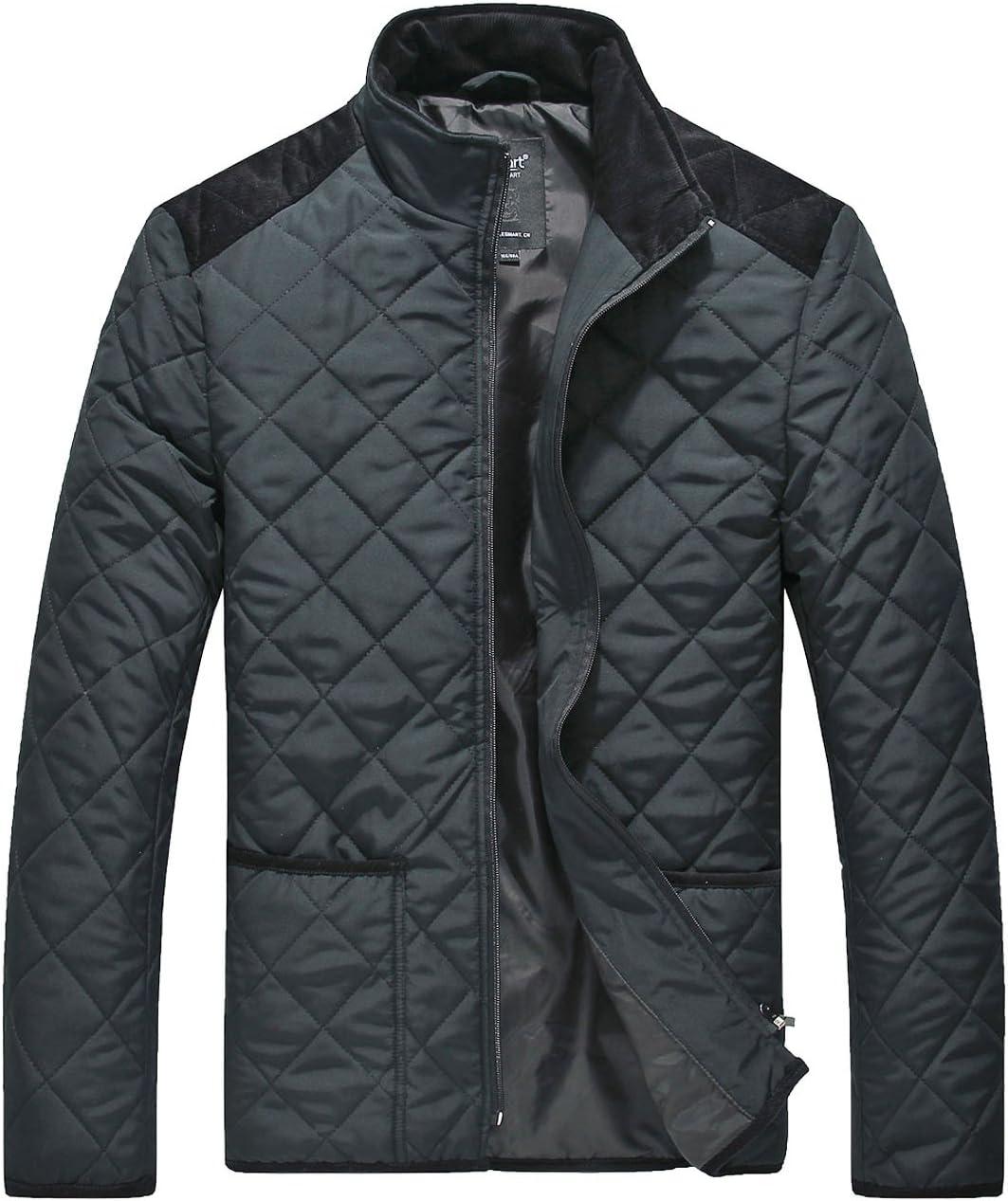 معطف Lesmart رجالي مبطن بجيوب قصيرة للشتاء