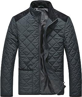 Lesmart Men's Padded Jackets Short Pocket Coat for Winter