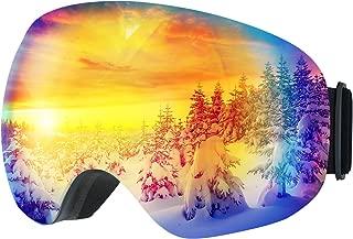 Snowboard Goggles,OMORC Ski Snow Snowboard Goggles for Ski Sledding Snowboarding Trip,OTG Anti-fog Polarized Lenses Snow Goggles With UV Protection,Helmet Compatible for Ski,Snowblower,Snowmobiling