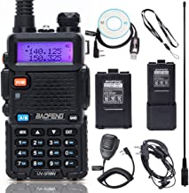 BaoFeng UV-5R8W High Power VHF UHF Dual Band Two Way Radio Portable Ham Radio with one More 3800mAh Battery,Speaker, Anten...