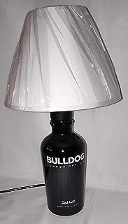 Lampada da tavolo artigianale da Bottiglia Gin Bulldog idea regalo abat jour abatjour riciclo creativo riuso