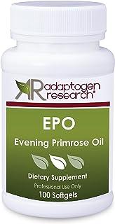 EPO Evening Primrose Oil 1300 mg   Bioactive GLA Essential Omega-6 Fatty Acid   Cold-Pressed Hexane Free   100 Softgels   ...