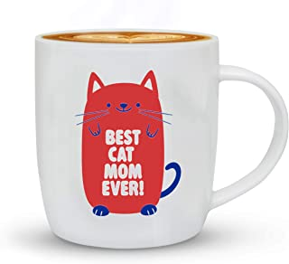 Worlds Best Cat Mom Ever, Funny Gift For Women, Cat Lover Birthday Gifts For Lady, Gifts For Her, Crazy Cat Memes Gift Coffee Mug, Christmas Gift, Valentines Day, Mugs, Pink, 13 Oz Cup