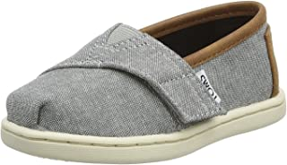 TOMS - Tiny Slip-On Shoes, Size: 10 M US Toddler, Color: Grey Chambray/Pu