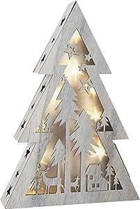 Small Foot 10201Navidad iluminación, madera, color blanco, 26.00X 5,50X 37cm