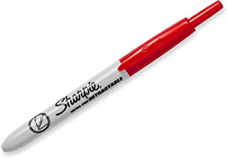 Sharpie Retractable Permanent Markers, Ultra Fine Point, Red, 12 Count