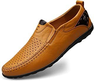 2019 Genuine Leather Italian Men Loafers Moccasins Slip on Mens Boat Shoes
