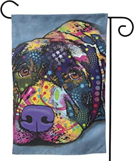 ACADEST Savvy Labrador Garden Flag House Flag, Two Sided Welcome Yard Decoration Flag for Indoor & Outdoor Decoration 12.5...
