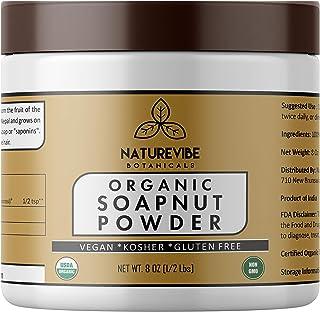 Naturevibe Botanicals Organic Soapnut Powder 8oz, Gluten Free & Non-GMO | All-Purpose Cleaner | Natural Sha...