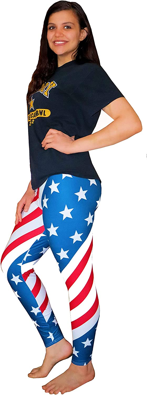 Jurish Designs Patriotic Leggings with Stars & Stripes