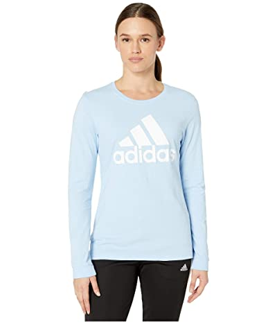 adidas Badge of Sport Long Sleeve Tee (Glow Blue) Women