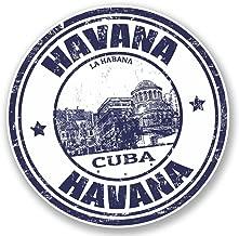2 x 10cm/100 mm La Habana Cuba Etiqueta autoadhesiva de vinilo adhesivo portátil de viaje equipaje signo coche divertido #4583