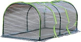 SLDHFE Mini serre de jardin d'extérieur avec housse zippée et étagères en métal, 0,6 x 1,2 x 0,5 m, mini serre portable tr...