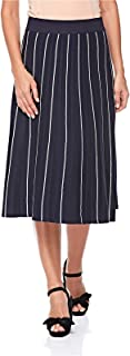 2Xtremz Compact Tricot A Line Skirt for Women - Navy