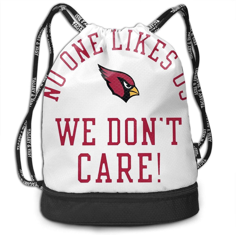 Unisex Drawstring Backpack ArizonaCardinalsNoOneLikes Us Sign Sport Gym Drawstring Bag