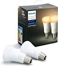 Philips Hue White Ambiance Smart Bulb Twin Pack LED [E27] with Bluetooth