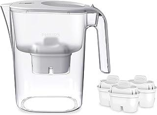 Phillips AWP2936 Carafe filtre à eau avec 3 cartouches Micro X Clean, Réduit le chlore et les microplastiques et PFOA, Eau...