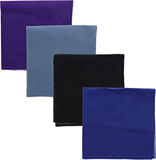 Solid Color Bandana - Set of 4