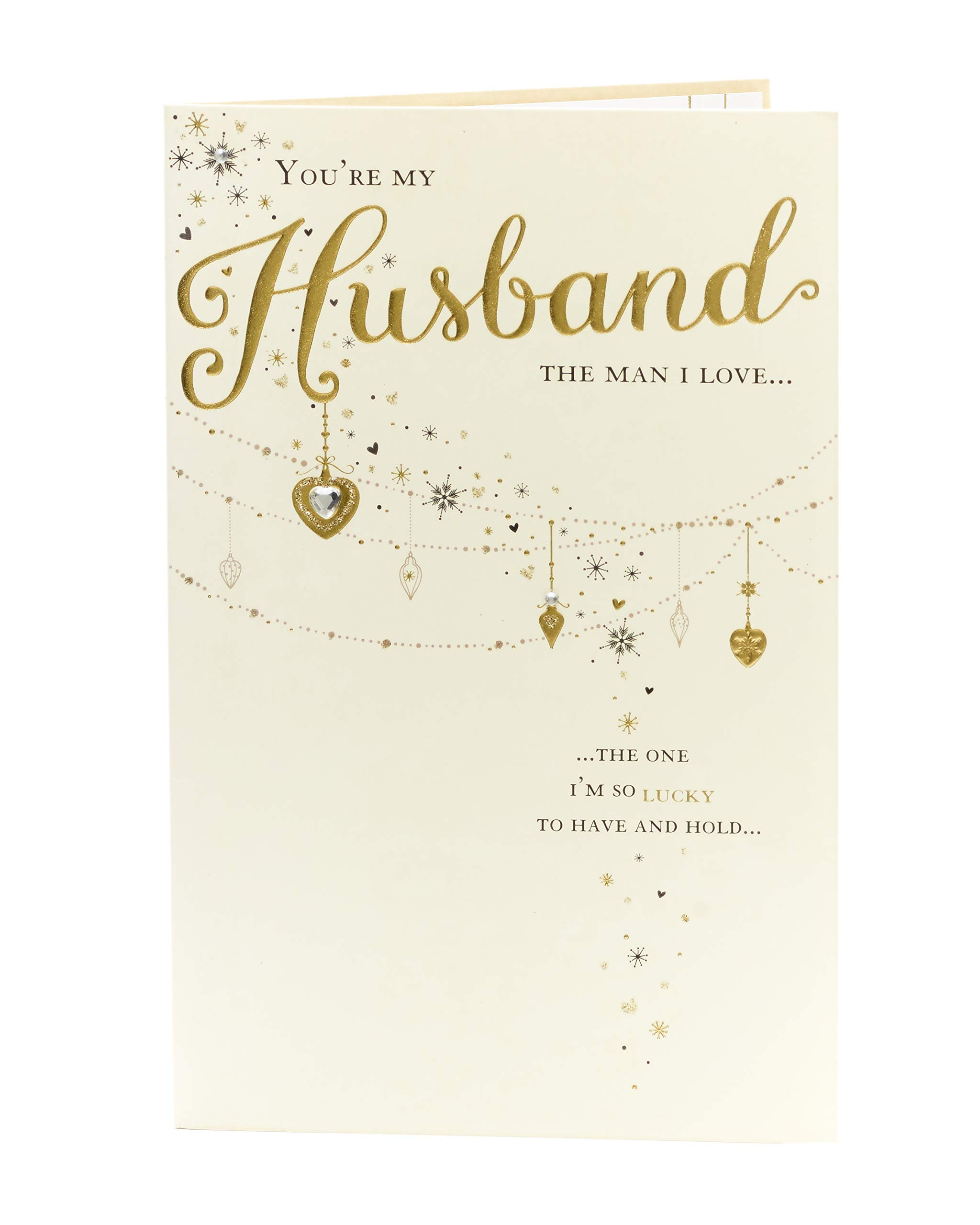 Amazon Com Husband Christmas Card Christmas Gifts For Men Christmas Gift Card Traditional Christmas Card Verse Office Products