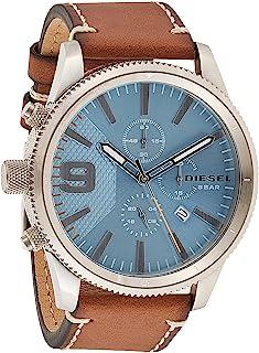 ساعة راسب كرونو 50 ملم للرجال بمينا ازرق وبسوار جلدي من ديزل - DZ4443.5