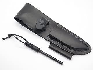 Schrade LS56 8.2in Premium Leather Sheath with Built-In Ferro Rod and Ferro Rod Holder for SCHF56