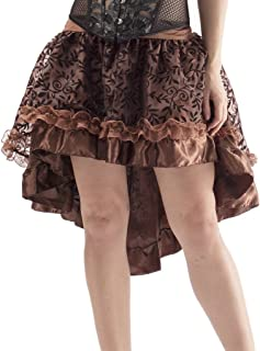 Alivila.Y Fashion Corset Women's Victorian Lace Asymmetrical Dress Skirt