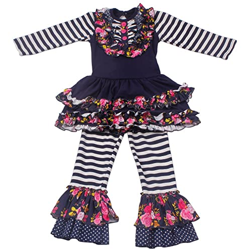 6c603d605 Girls Boutique Clothing Autumn Winter Spring Ruffle Dress Pants Outfits
