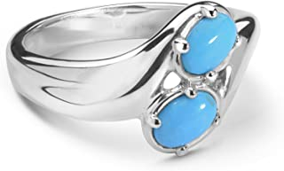 Carolyn Pollack Sterling Silver Size 5 to 10 Sleeping Beauty Turquoise Ring