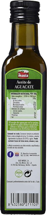 La Masia - Aceite de aguacate, 250 ml