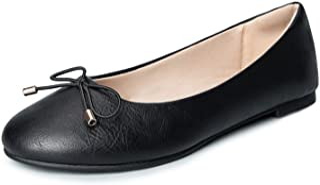 WFL جولة اصبع القدم النساء شقق الانزلاق على أحذية الباليه المسطحة لينة
