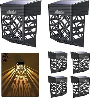 Etlephe Lampe Solaire Exterieur Jardin, 6 Pièces Étanche Lumière Solaire Exterieur, Éclairage Mural D'extérieur pour Porta...