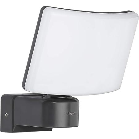 Oktaplex Lighting Projecteur LED extérieur Cali 30 W | Projecteur mural IP65 3 000 K blanc chaud | Projecteur anthracite