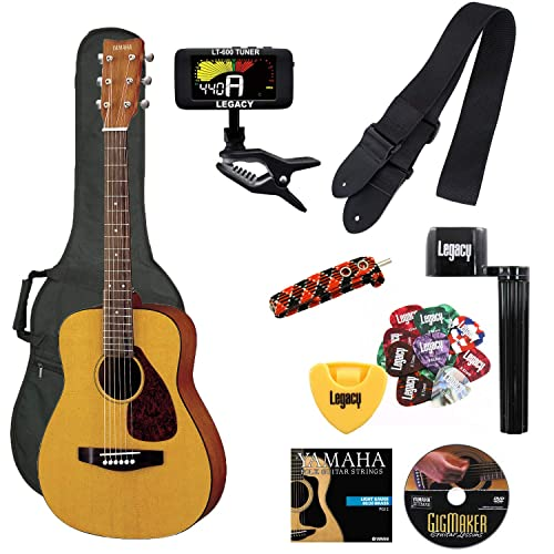 Yamaha JR1 FG Junior 3/4 Size Acoustic Guitar with Gig Bag and Legacy Accessory